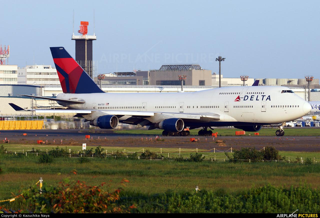 Delta Air Lines N667US aircraft at Tokyo - Narita Intl