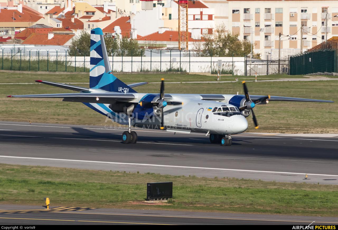 Vulkan Air UR-CQV aircraft at Lisbon