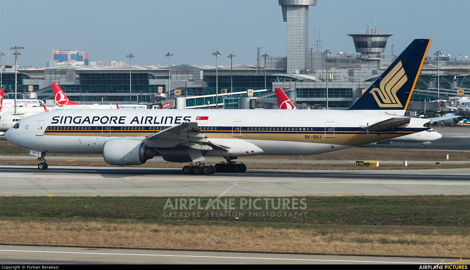 Singapore Airlines 9V-SVJ aircraft at Istanbul - Ataturk