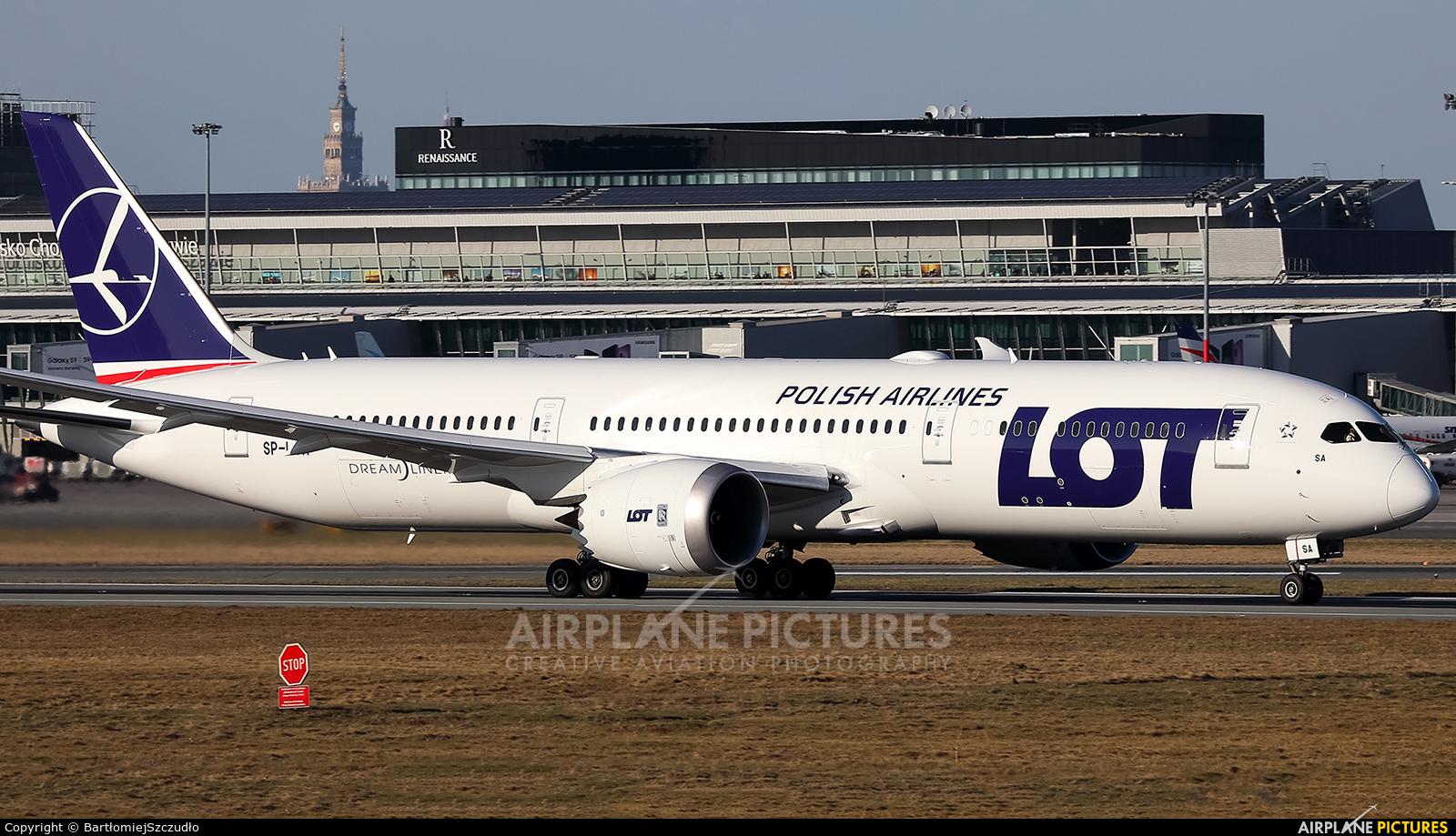 LOT - Polish Airlines SP-LSA aircraft at Warsaw - Frederic Chopin