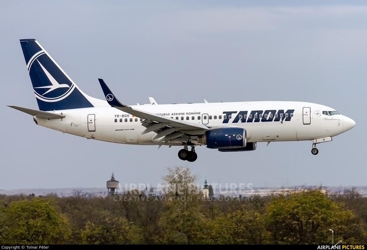 Tarom YR-BGH aircraft at Budapest Ferenc Liszt International Airport