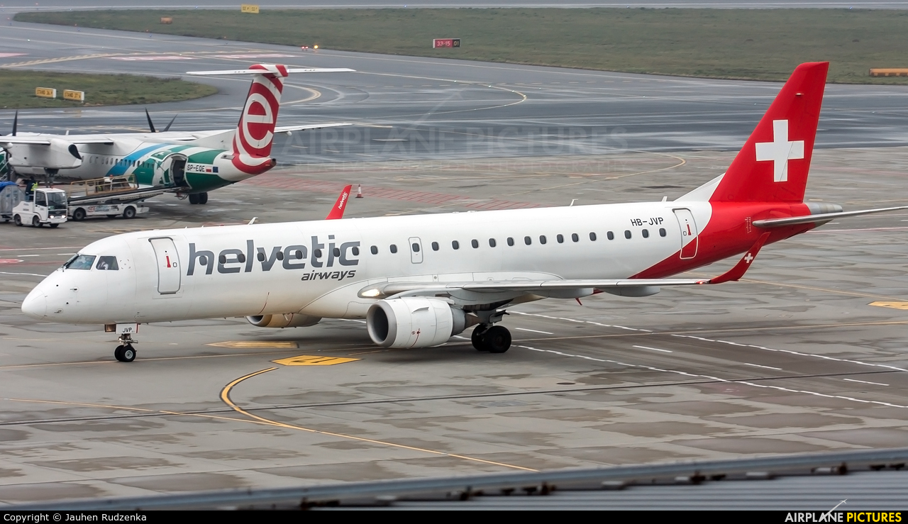 Helvetic Airways HB-JVP aircraft at Warsaw - Frederic Chopin