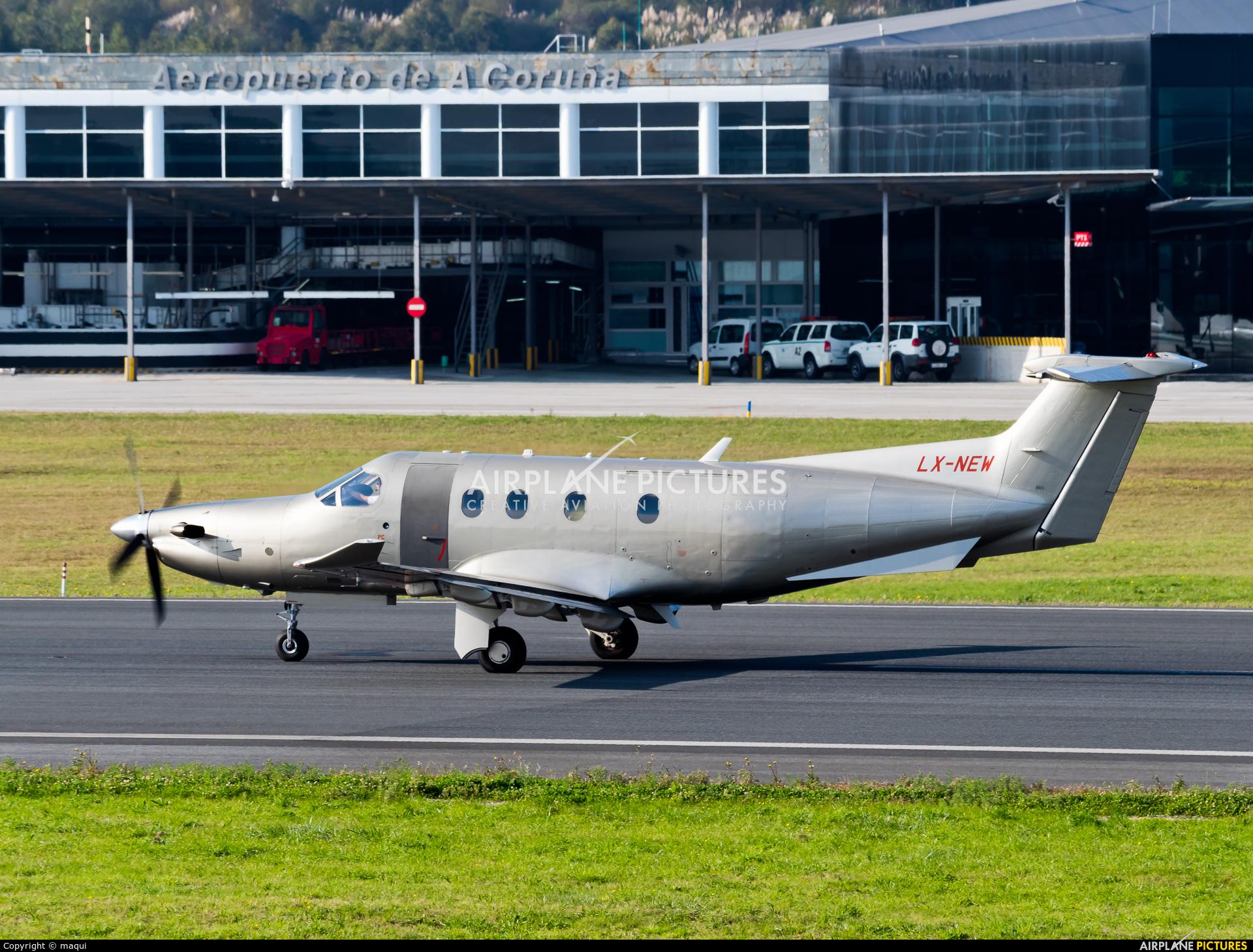 Jetfly Aviation LX-NEW aircraft at La Coruña