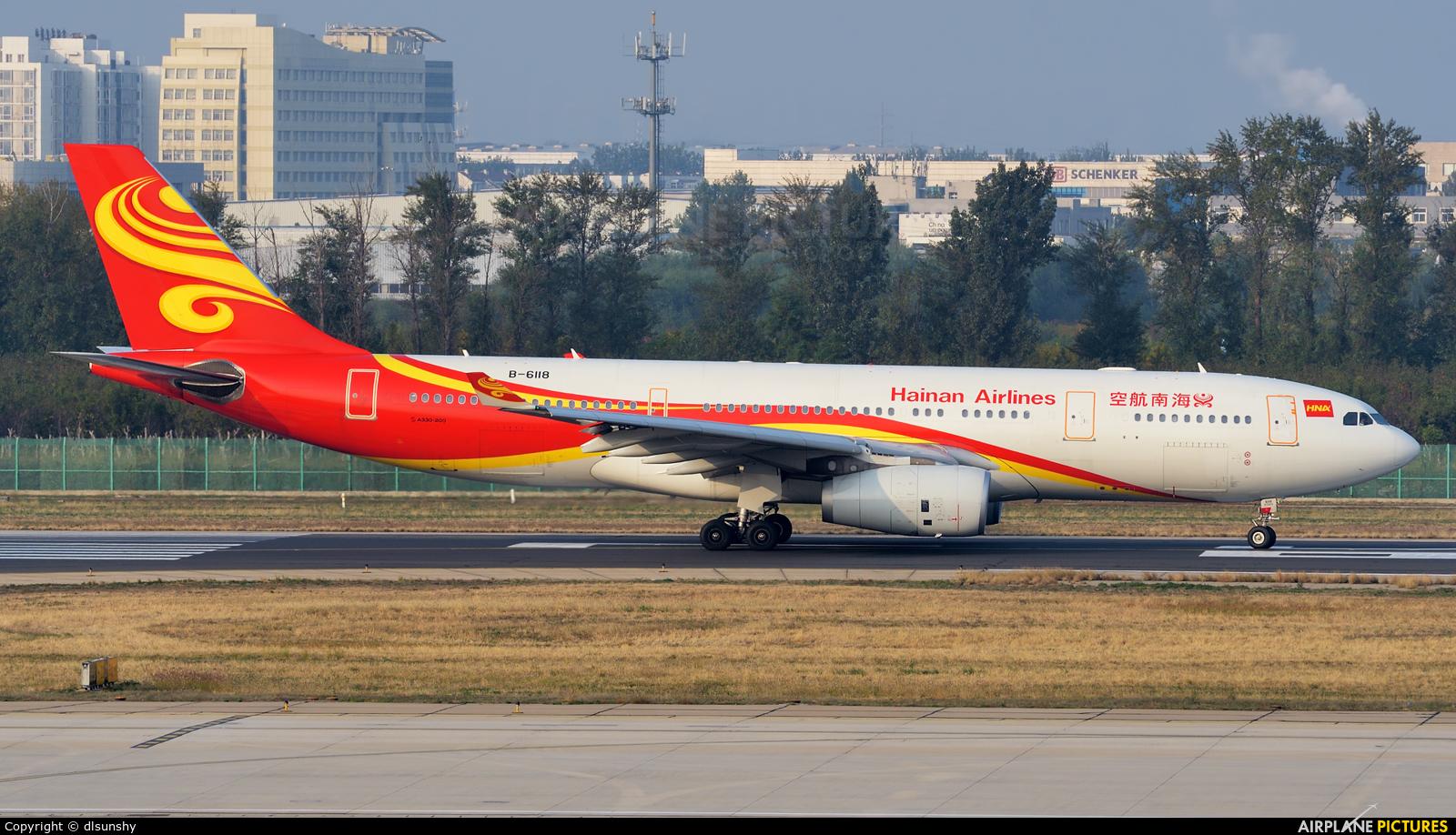 Hainan Airlines B-6118 aircraft at Beijing - Capital