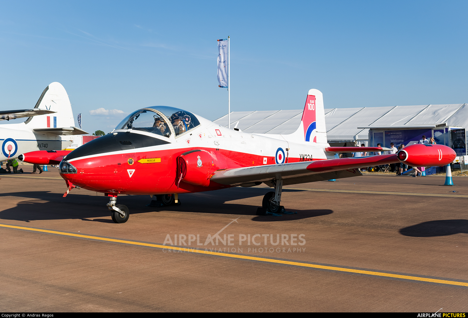 Private XW324 aircraft at Fairford