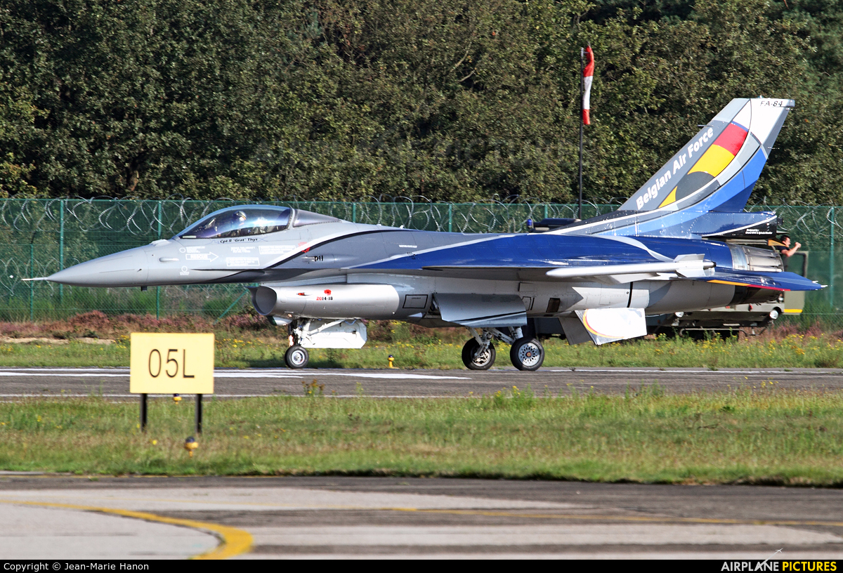 Belgium - Air Force FA-84 aircraft at Kleine Brogel