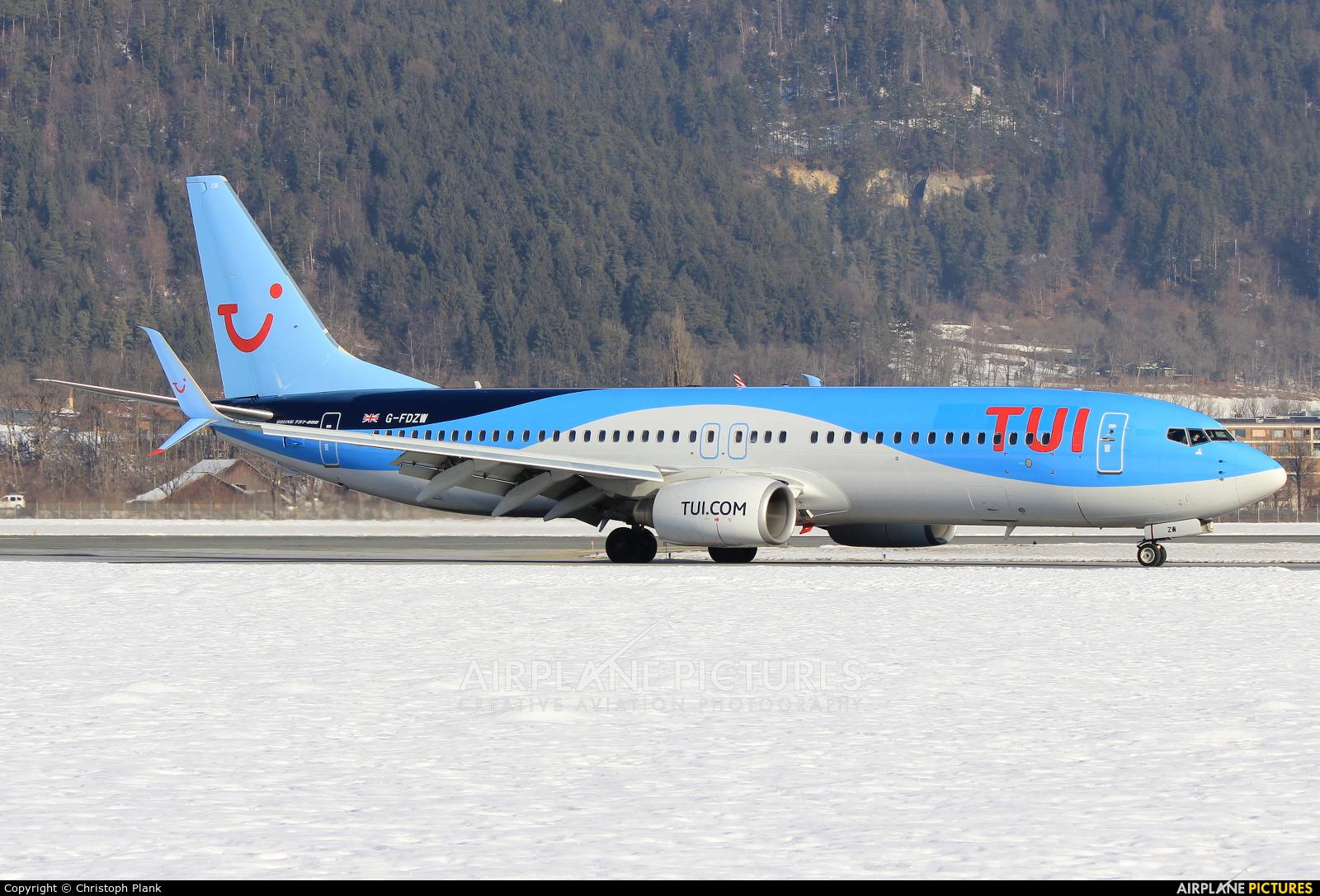 TUI Airways G-FDZW aircraft at Innsbruck