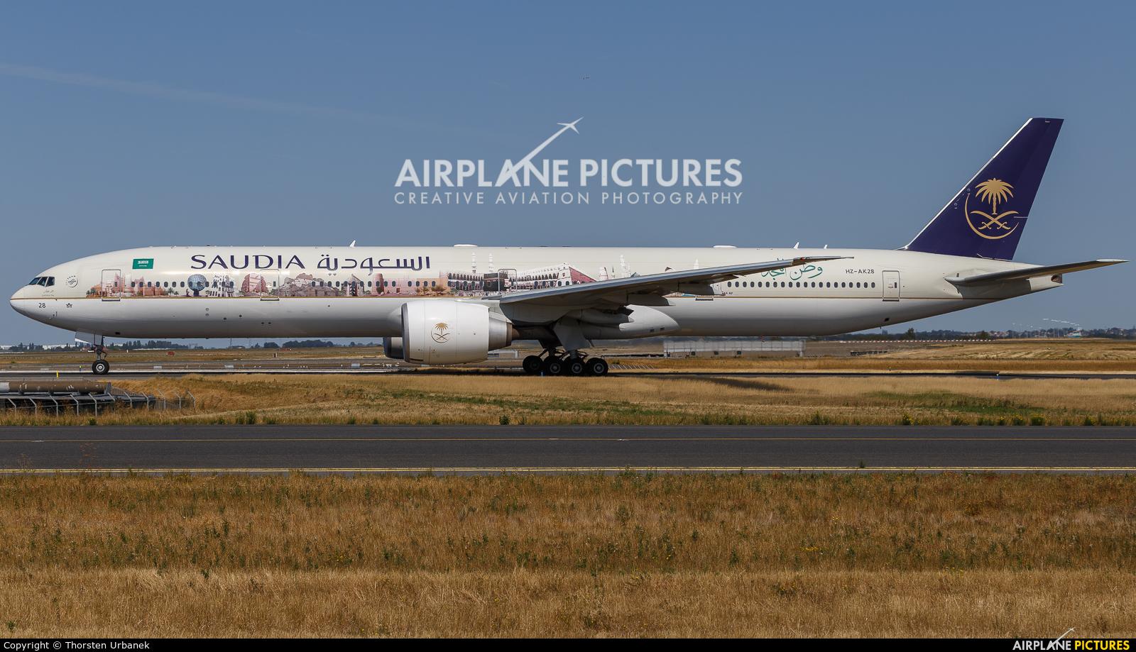 Saudi Arabian Airlines HZ-AK28 aircraft at Paris - Charles de Gaulle
