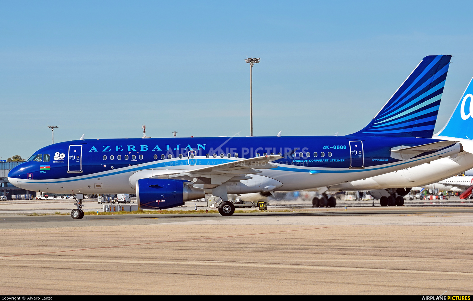 Azerbaijan - Government 4K-8888 aircraft at Madrid - Barajas