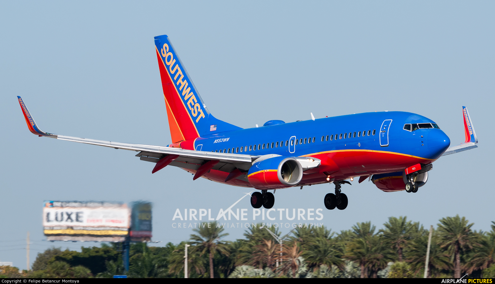 Southwest Airlines N553WN aircraft at Fort Lauderdale - Hollywood Intl