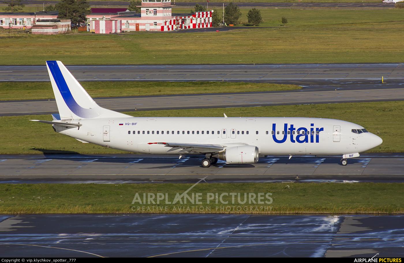 UTair VQ-BIF aircraft at St. Petersburg - Pulkovo