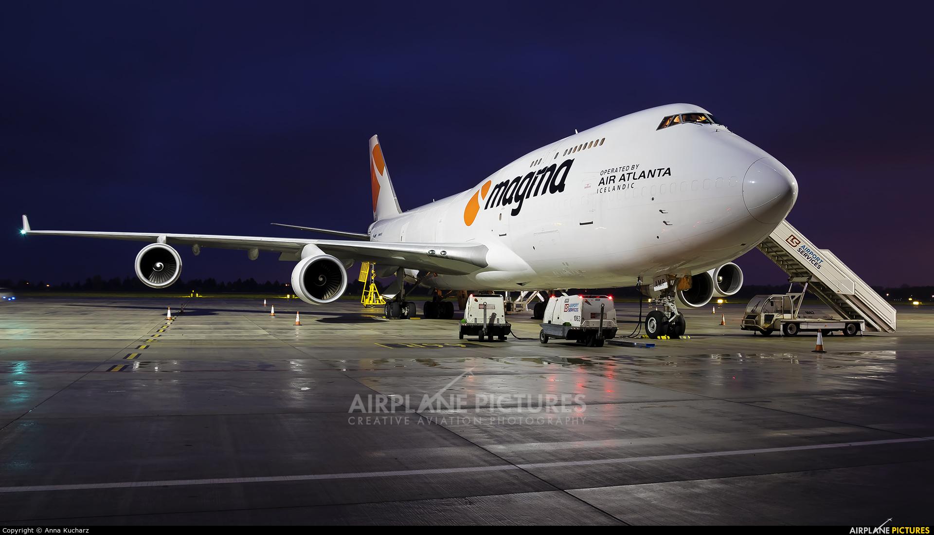 Air Atlanta Icelandic TF-AMP aircraft at Warsaw - Frederic Chopin