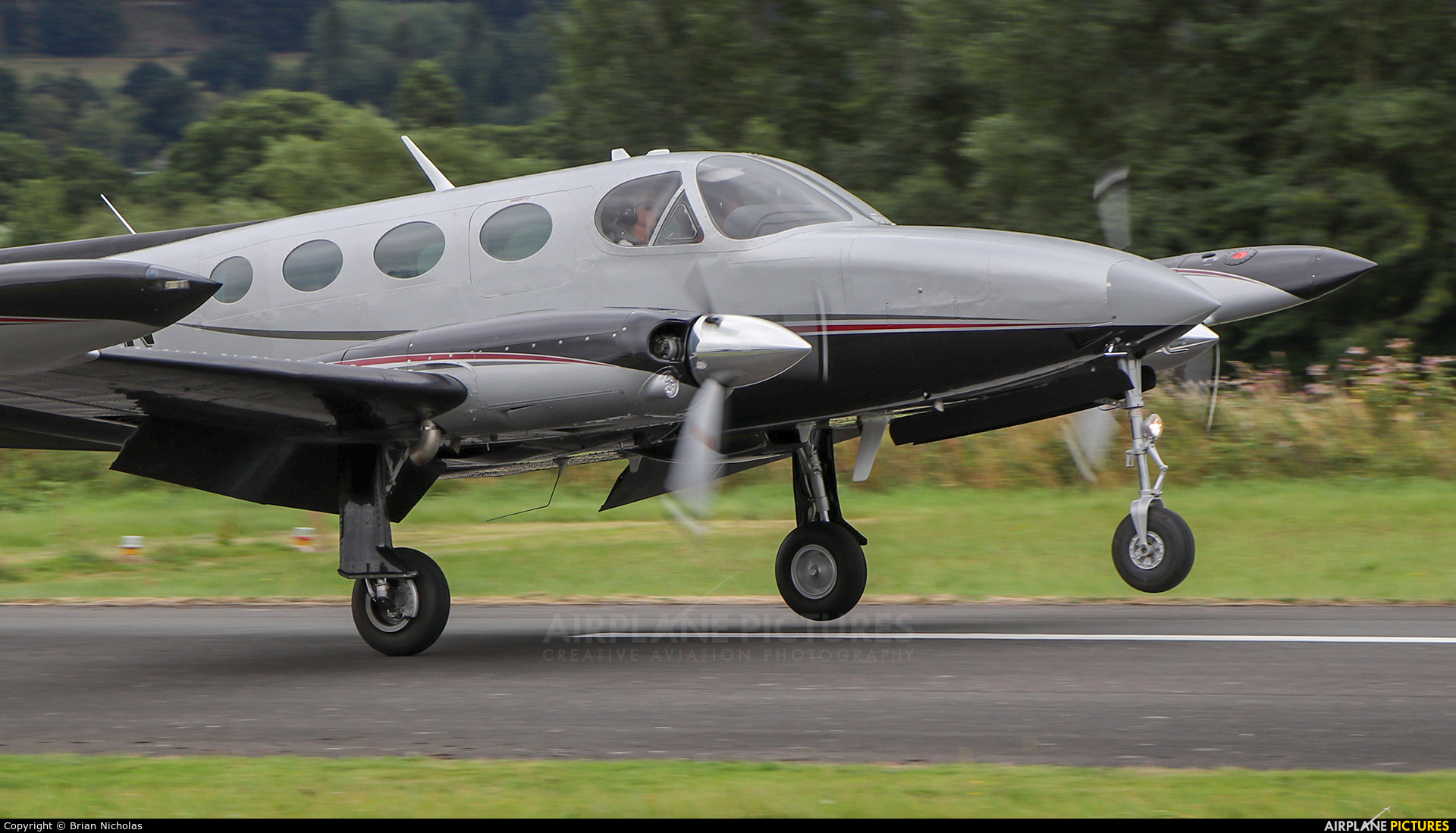 Private D-IBON aircraft at Welshpool