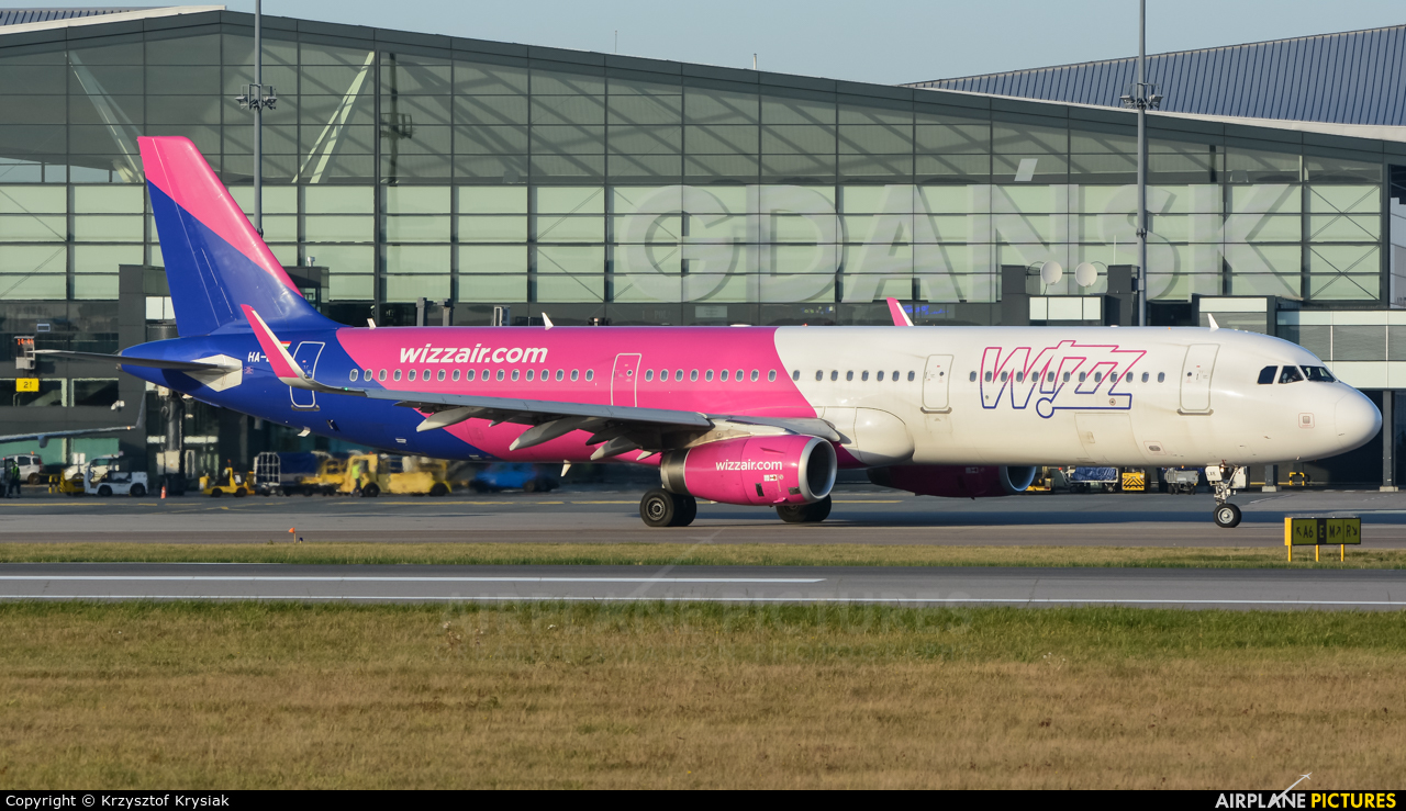 Wizz Air HA-LXE aircraft at Gdańsk - Lech Wałęsa