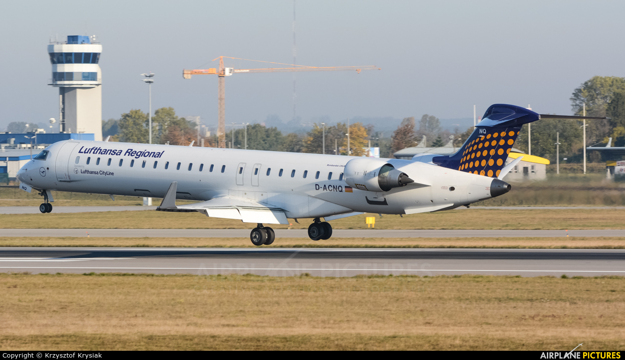 Lufthansa Regional - CityLine D-ACNQ aircraft at Gdańsk - Lech Wałęsa