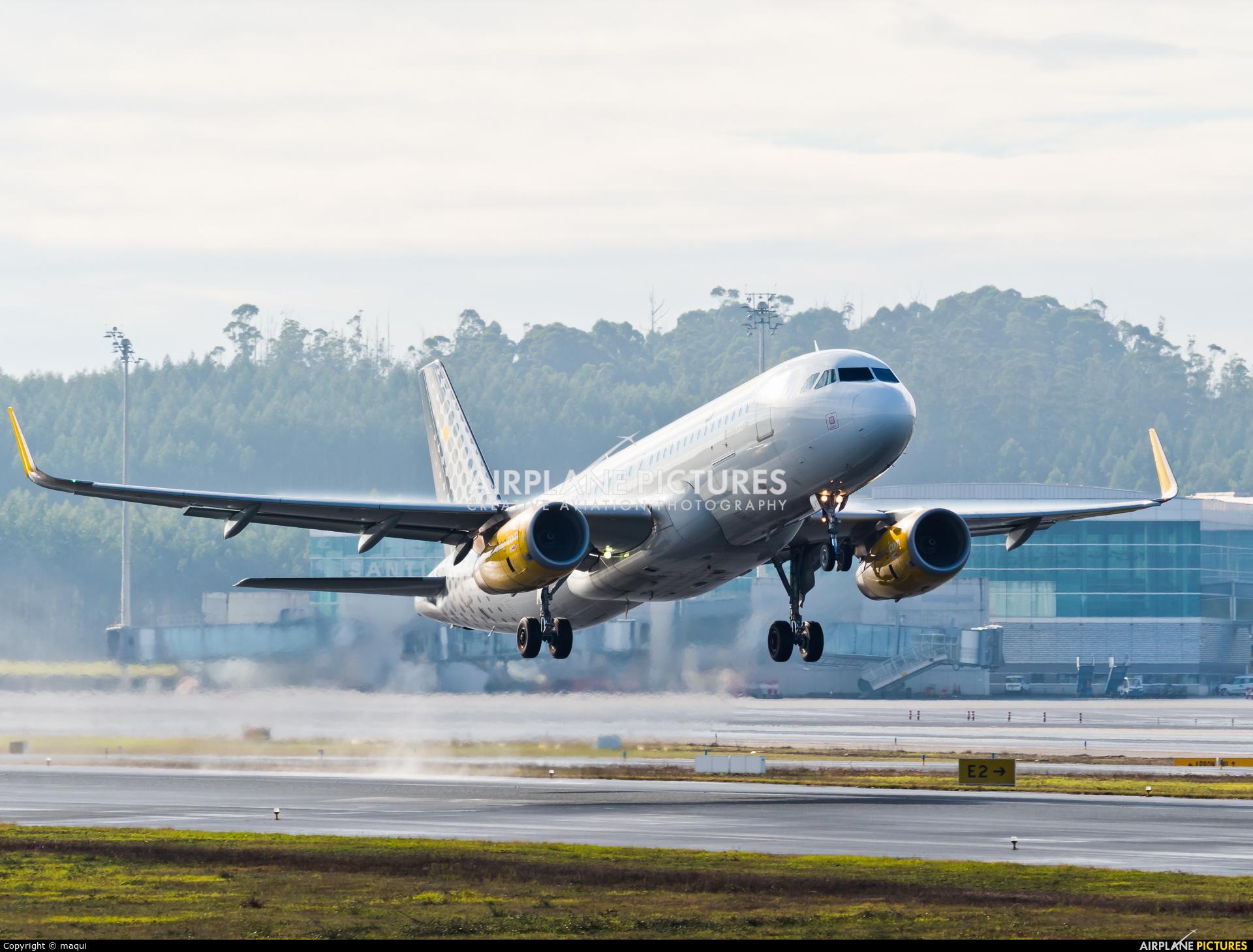 Vueling Airlines EC-LVT aircraft at Santiago de Compostela