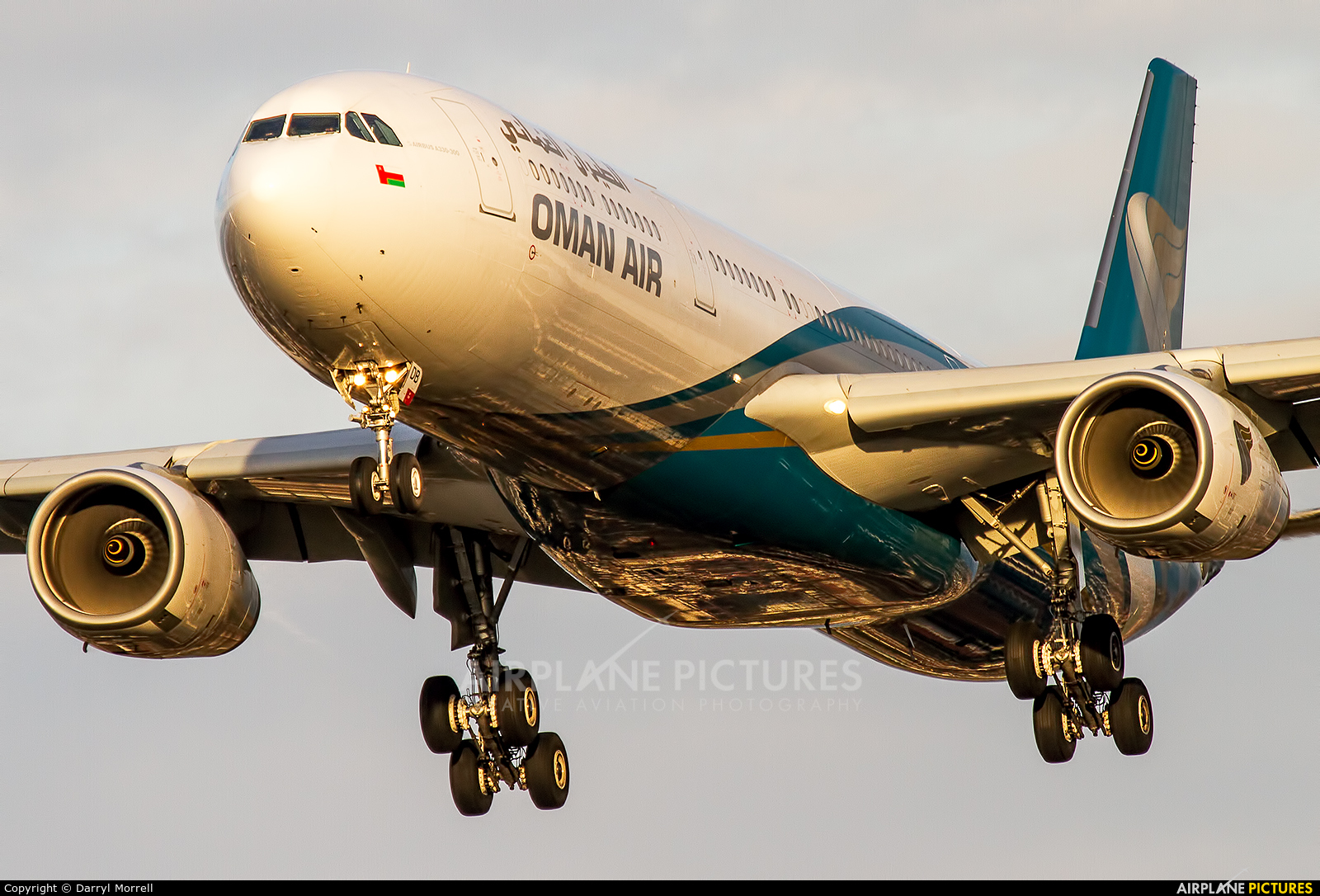 Oman Air A4O-DB aircraft at London - Heathrow