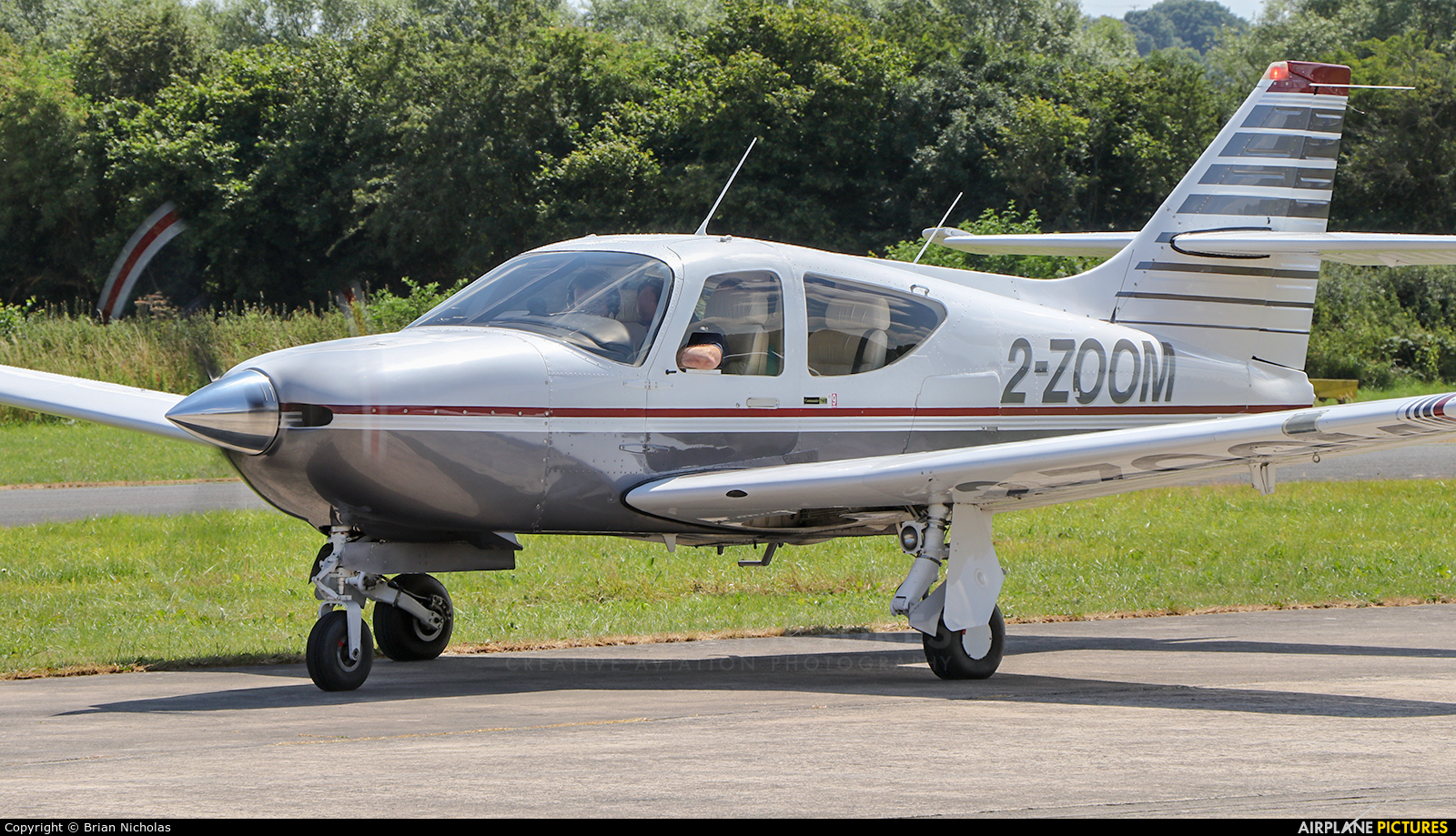Private 2-ZOOM aircraft at Welshpool