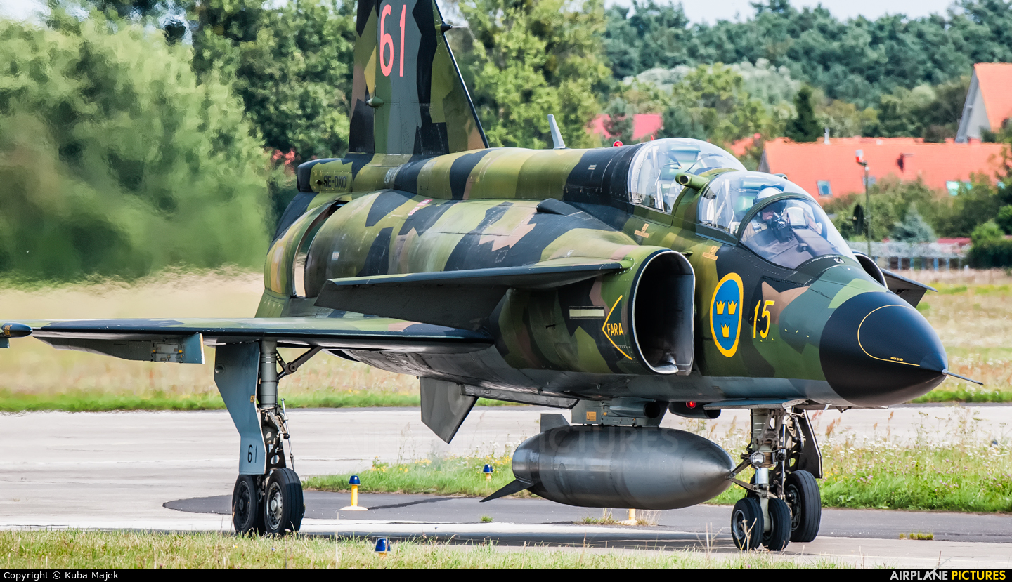 Sweden - Air Force 61 aircraft at Gdynia- Babie Doły (Oksywie)
