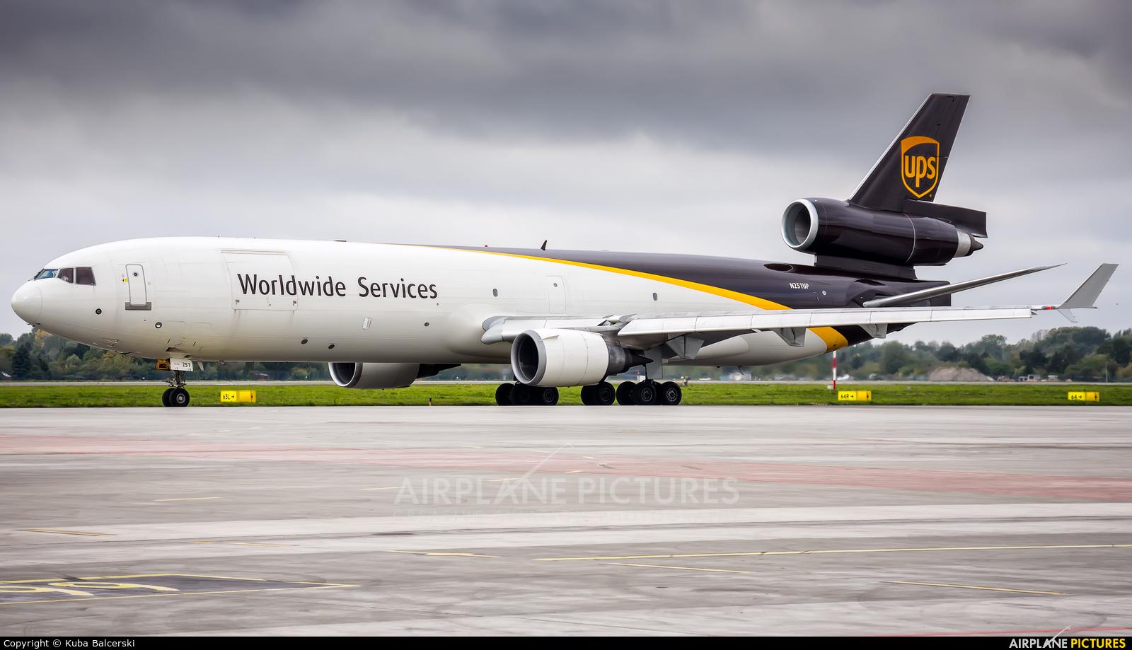 UPS - United Parcel Service N251UP aircraft at Warsaw - Frederic Chopin