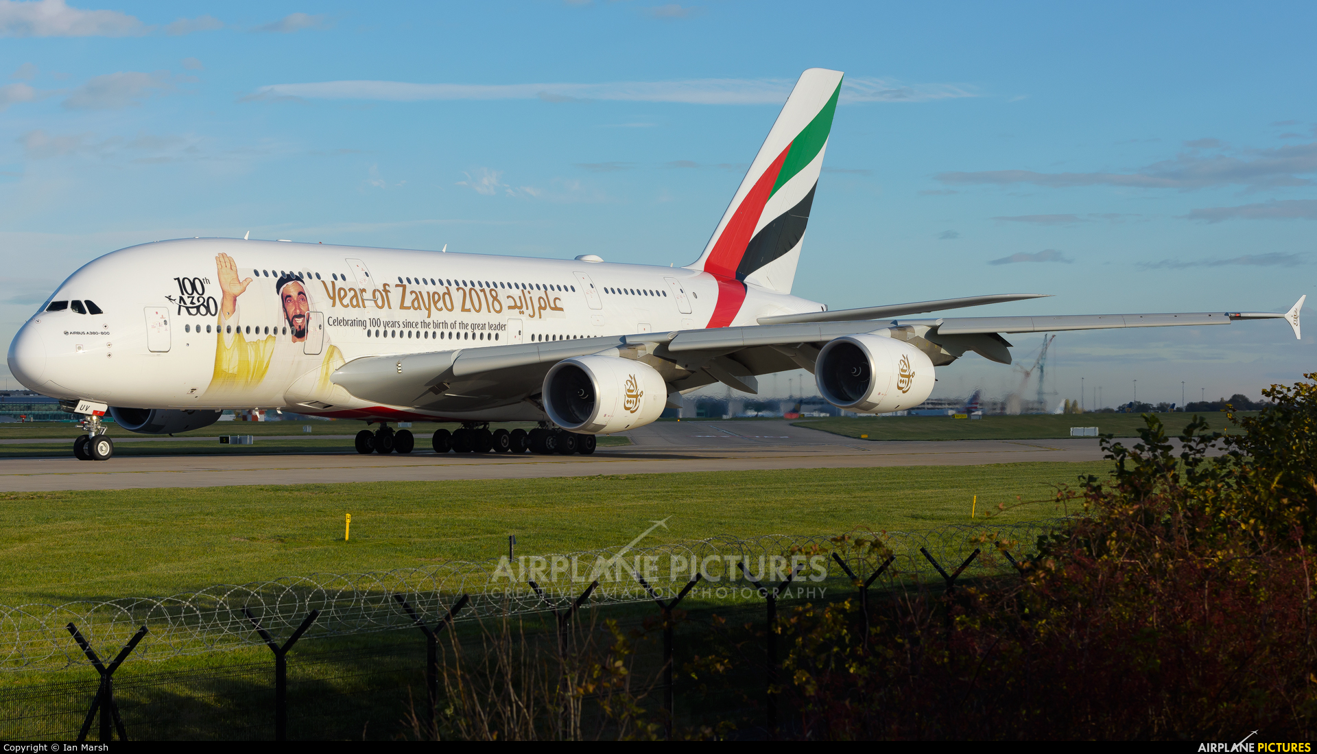 Emirates Airlines A6-EUV aircraft at Manchester