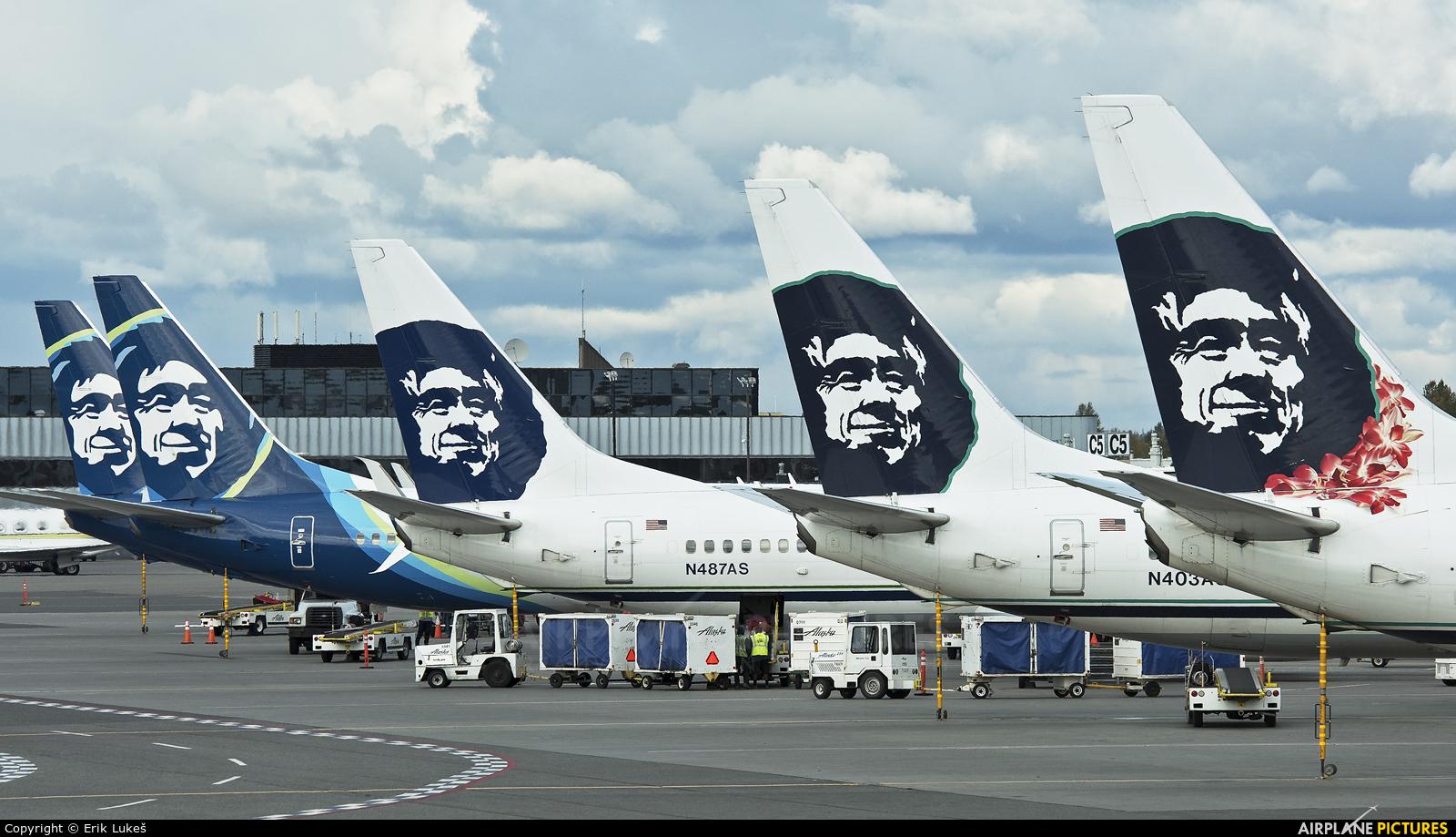 Alaska Airlines N403AS aircraft at Anchorage - Ted Stevens Intl / Kulis Air National Guard Base