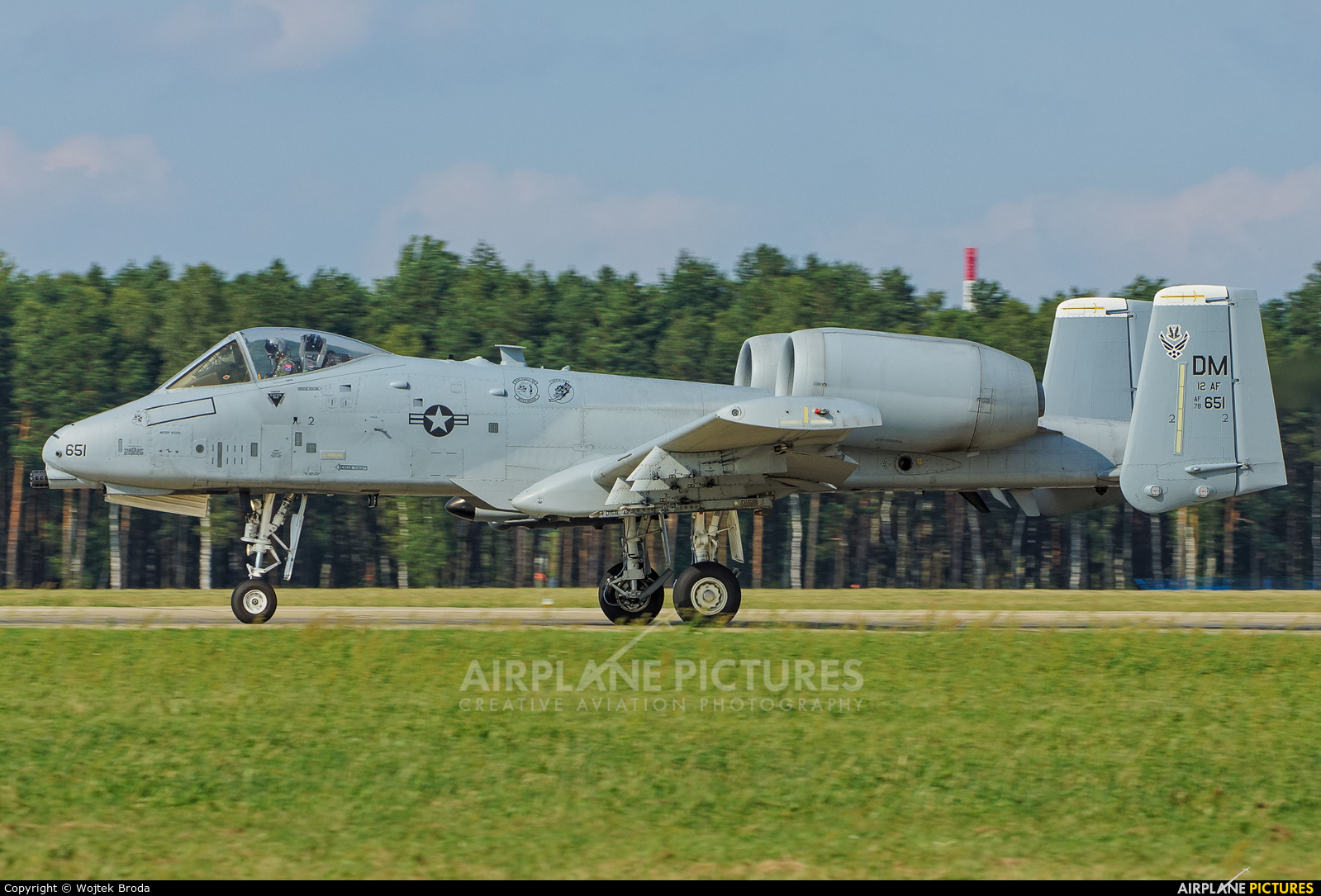 USA - Air Force 81-0651 aircraft at Łask AB