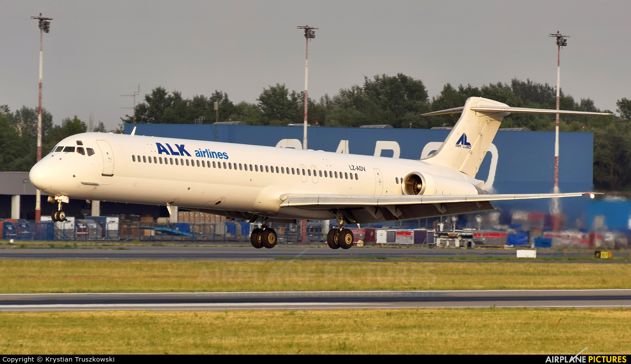 ALK Airlines LZ-ADV aircraft at Warsaw - Frederic Chopin