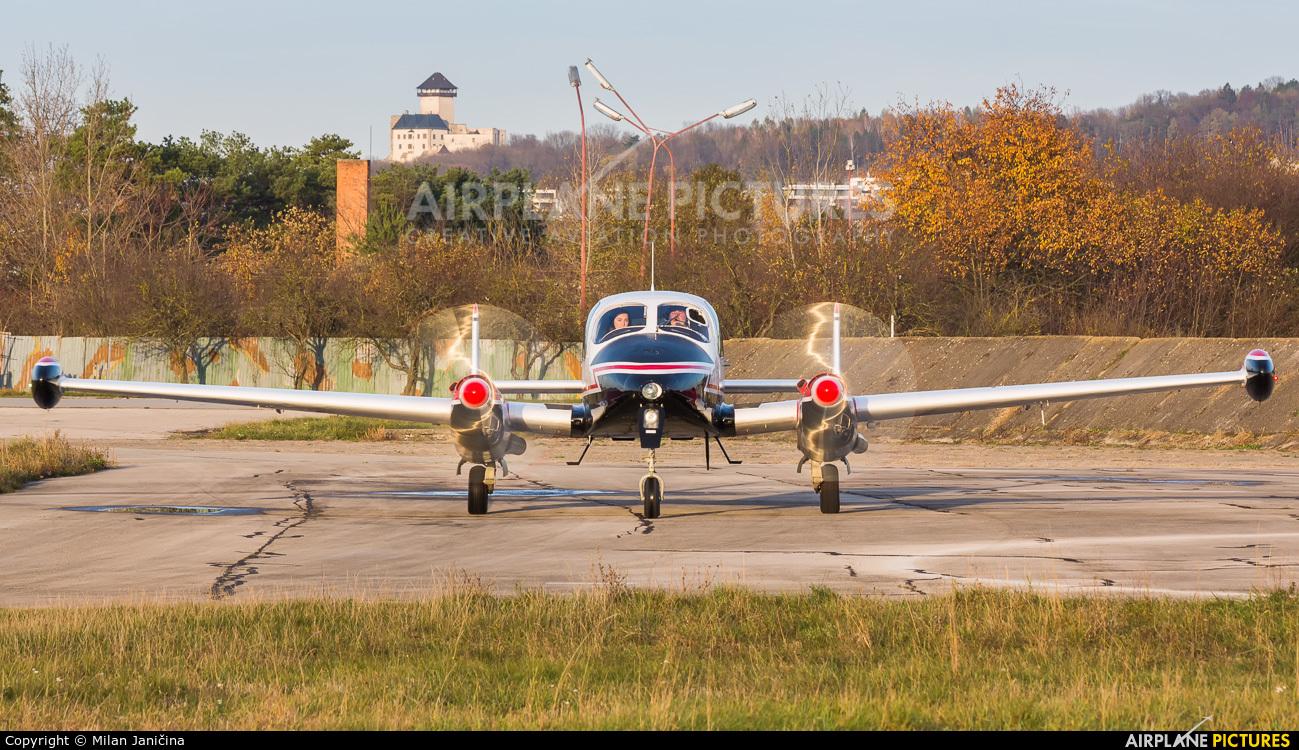 Private OM-FOE aircraft at Trenčín