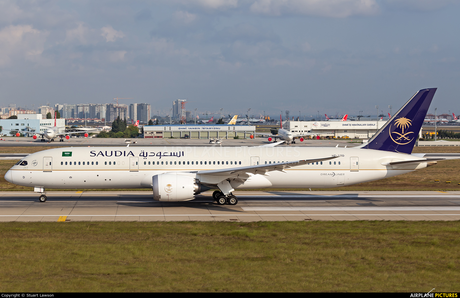Saudi Arabian Airlines HZ-ARD aircraft at Istanbul - Ataturk