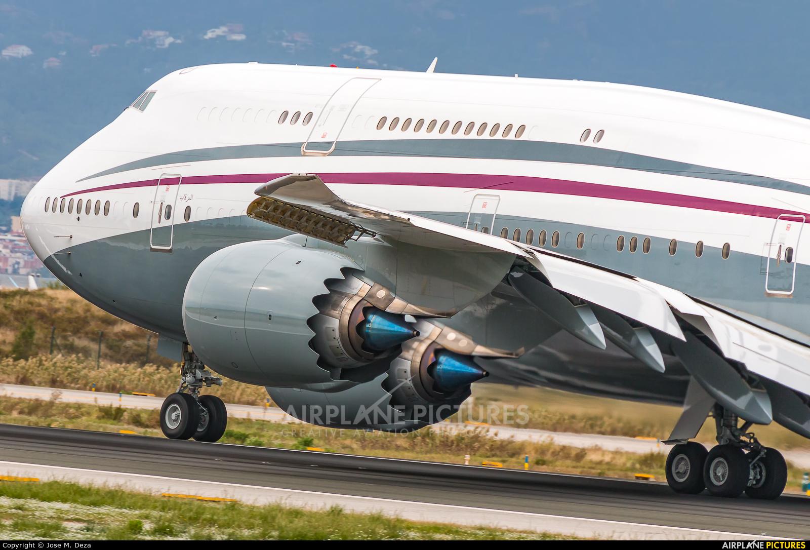 Qatar Amiri Flight A7-HBJ aircraft at Barcelona - El Prat