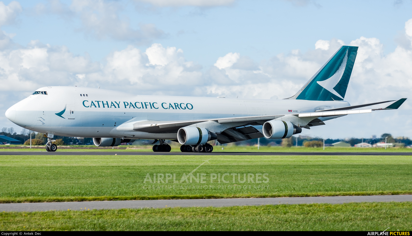 Cathay Pacific Cargo B-LIA aircraft at Amsterdam - Schiphol