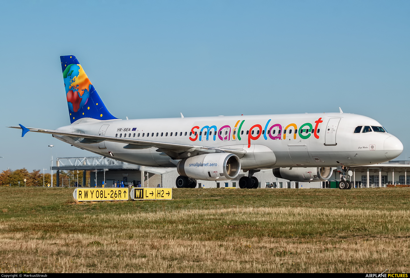 Small Planet Airlines YR-SEA aircraft at Leipzig - Halle