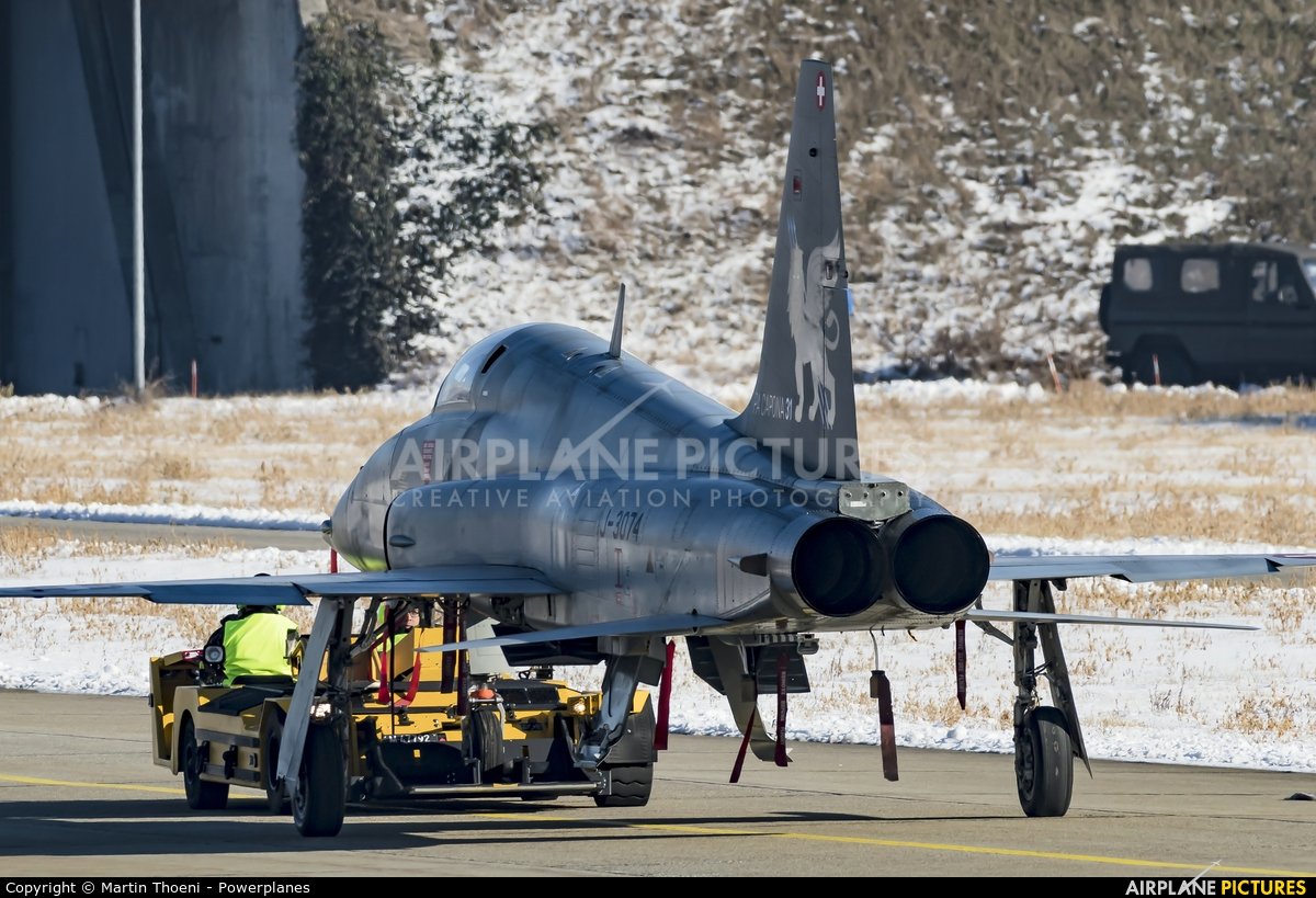 Switzerland - Air Force J-3074 aircraft at Sion