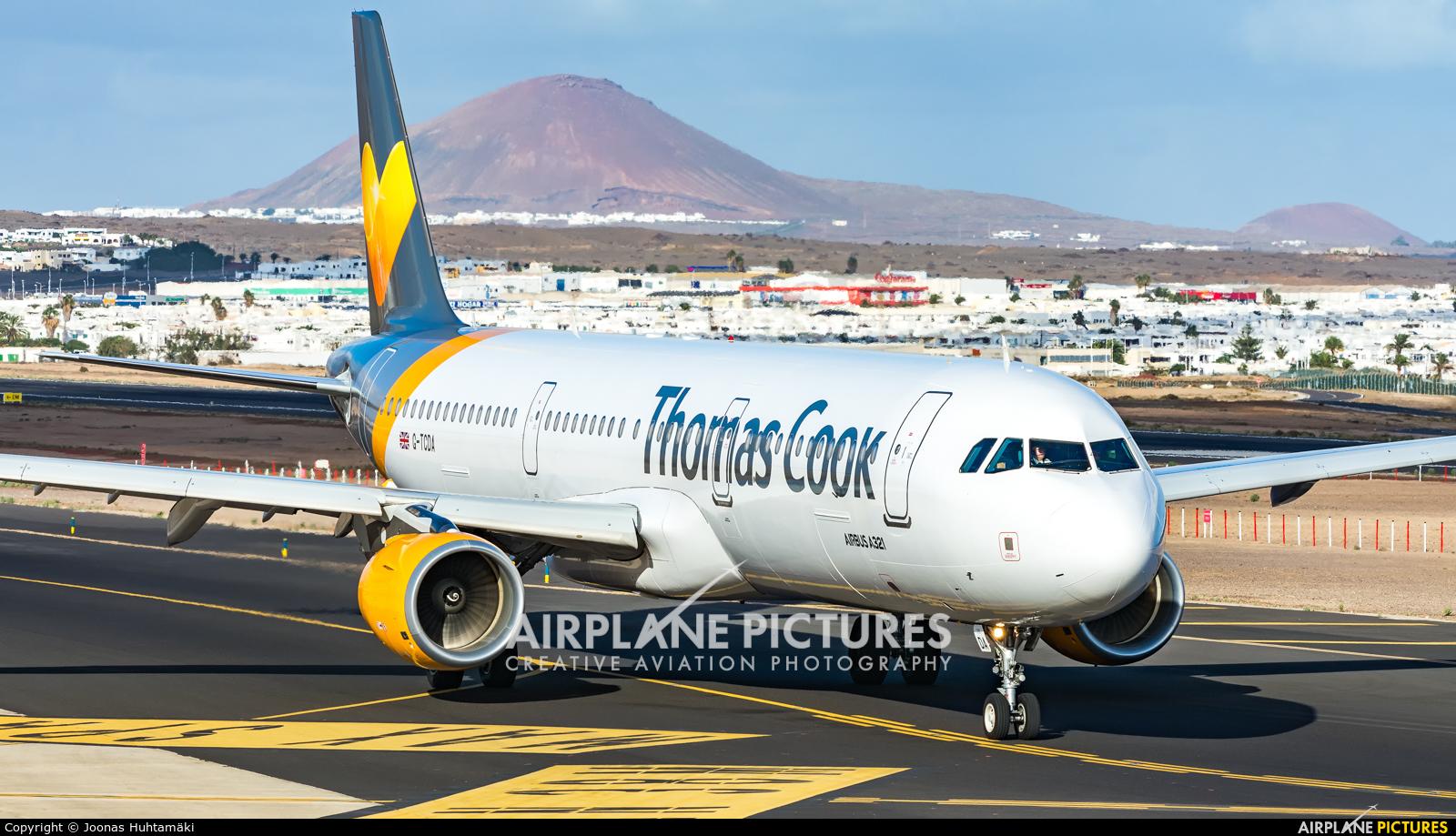 Thomas Cook G-TCDA aircraft at Lanzarote - Arrecife