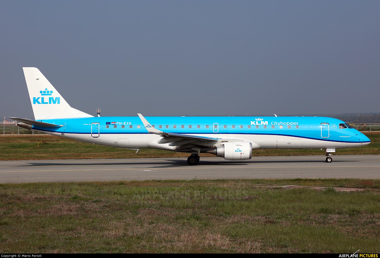 KLM Cityhopper PH-EXV aircraft at Milan - Malpensa