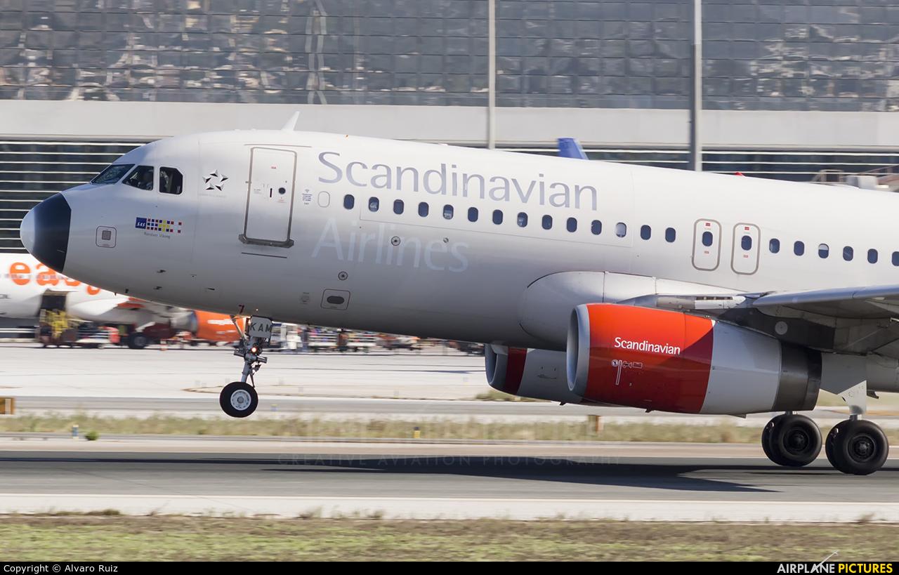 SAS - Scandinavian Airlines OY-KAM aircraft at Málaga