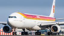 Iberia Airbus A340-600 brought Real Madrid football team to Prague title=