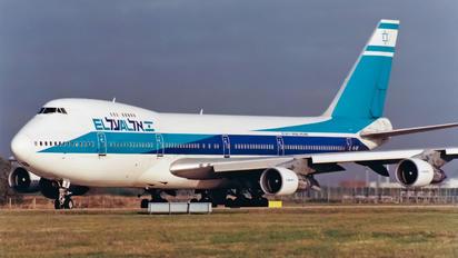 4X-AXB - El Al Israel Airlines Boeing 747-200