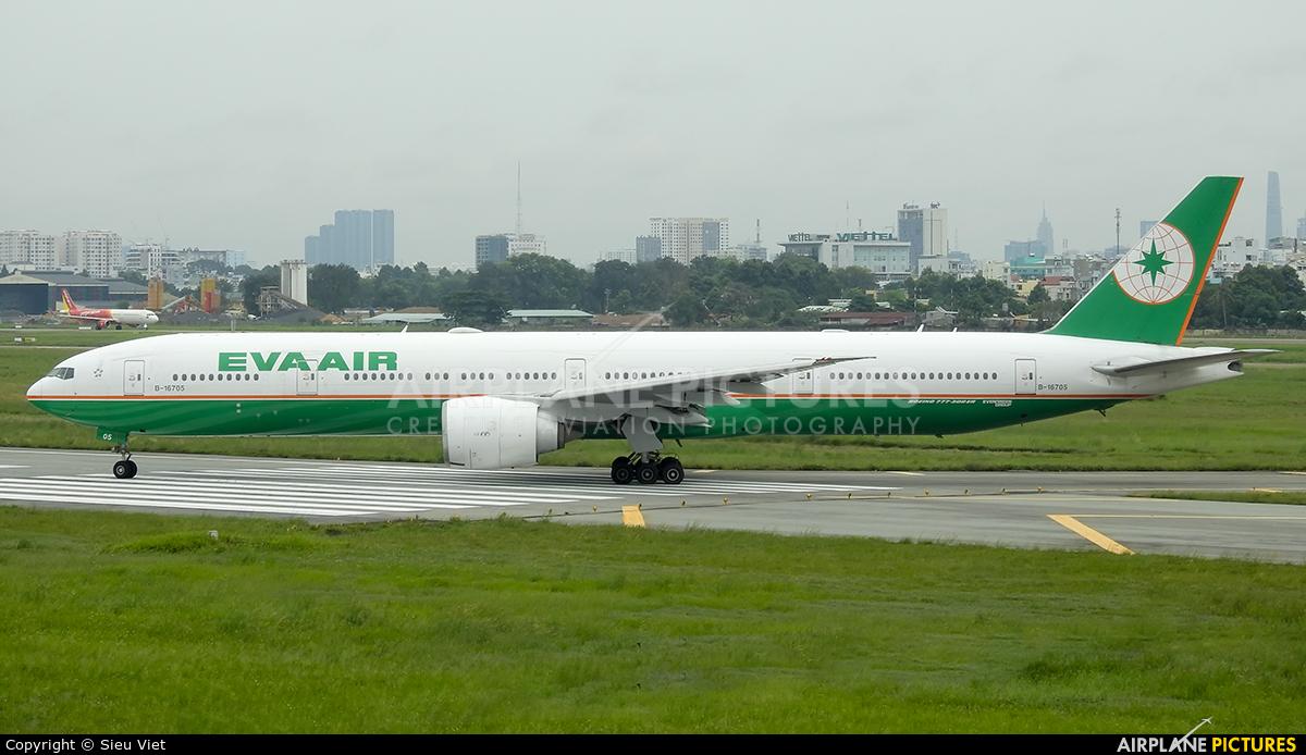 Eva Air B-16705 aircraft at Ho Chi Minh City - Tan Son Nhat Intl