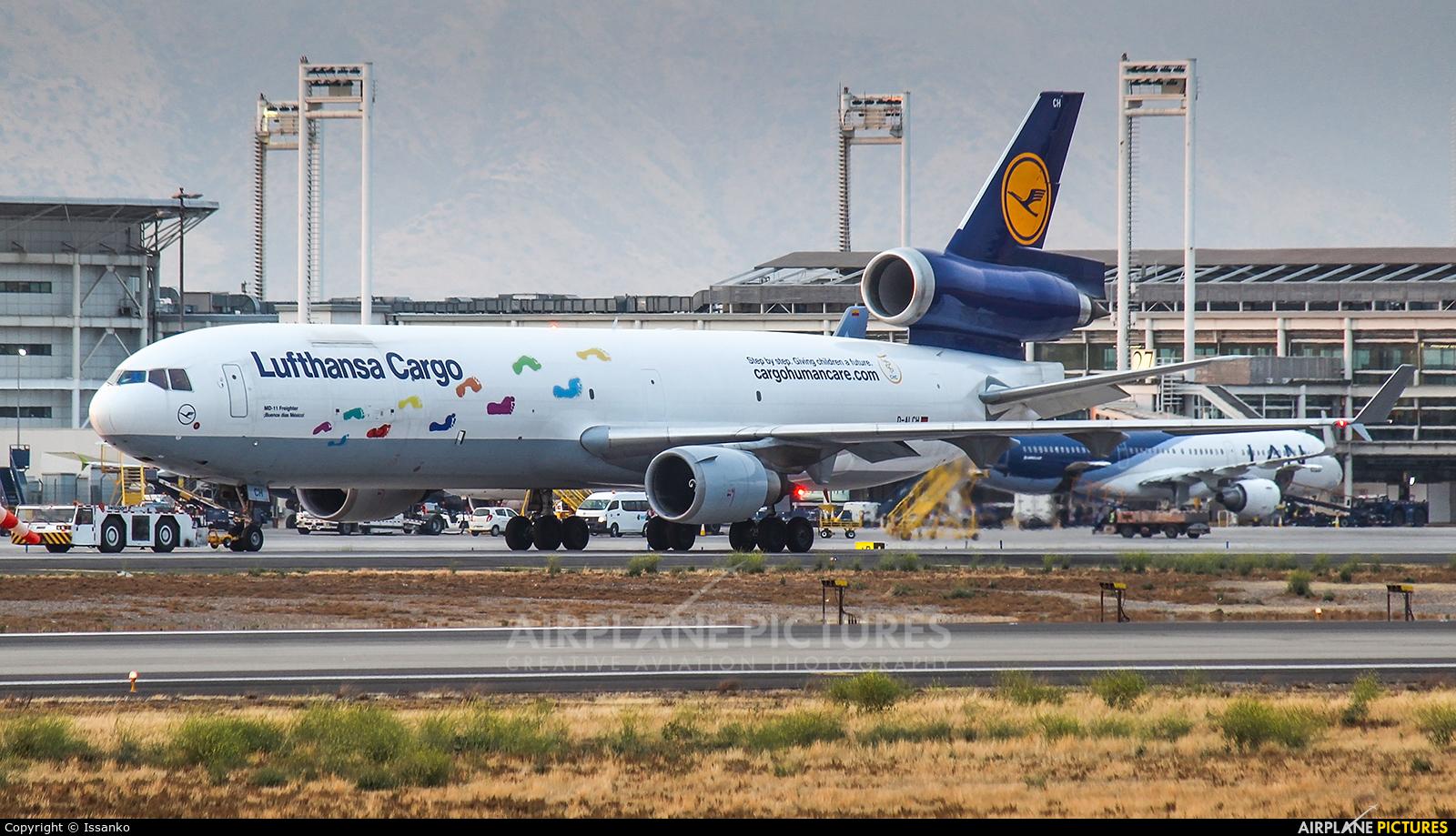 Lufthansa Cargo D-ALCH aircraft at Santiago de Chile - Arturo Merino Benítez Intl