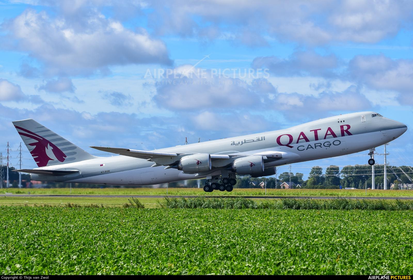 Qatar Airways Cargo A7-BGB aircraft at Amsterdam - Schiphol
