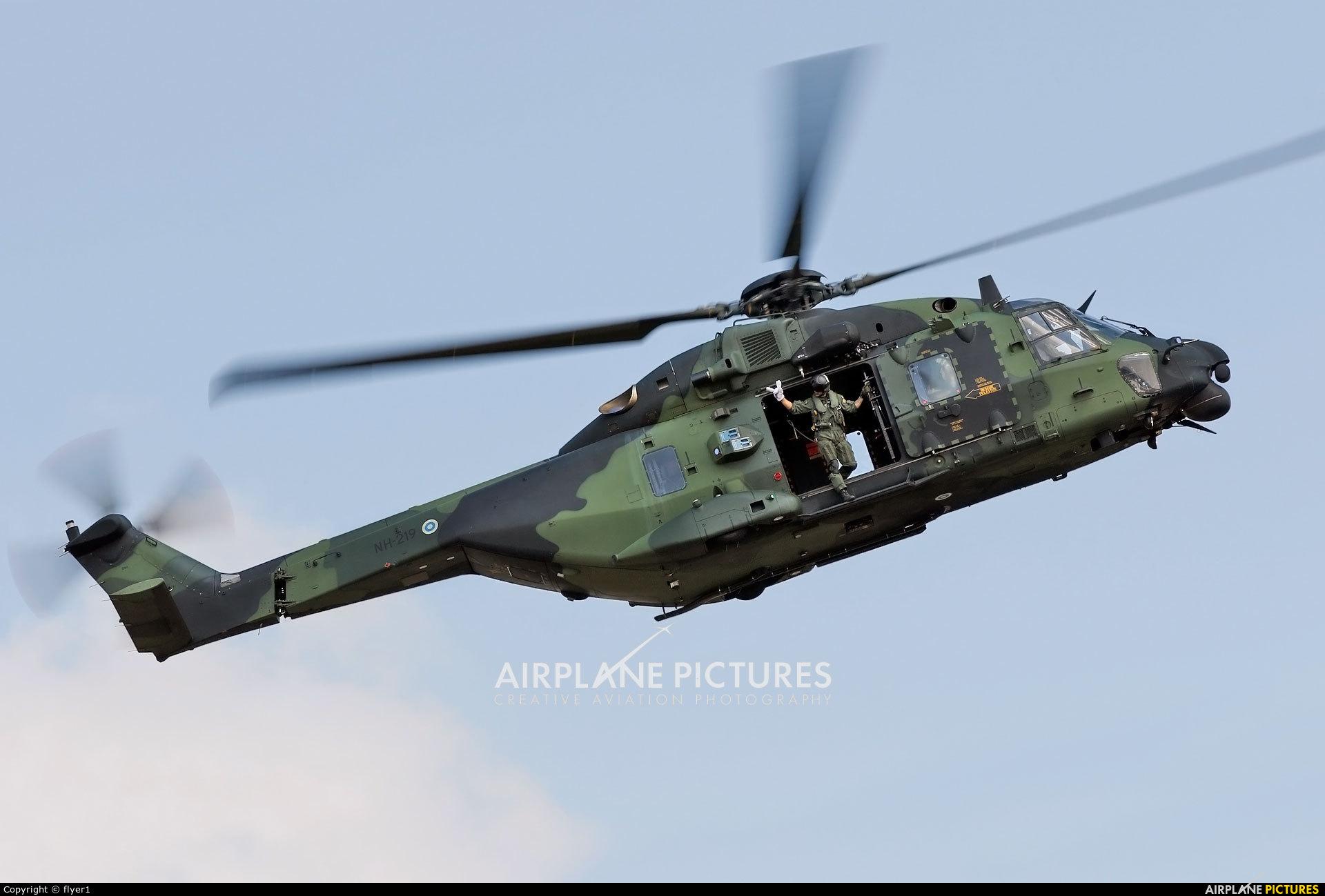 Finland - Army NH-219 aircraft at Fairford
