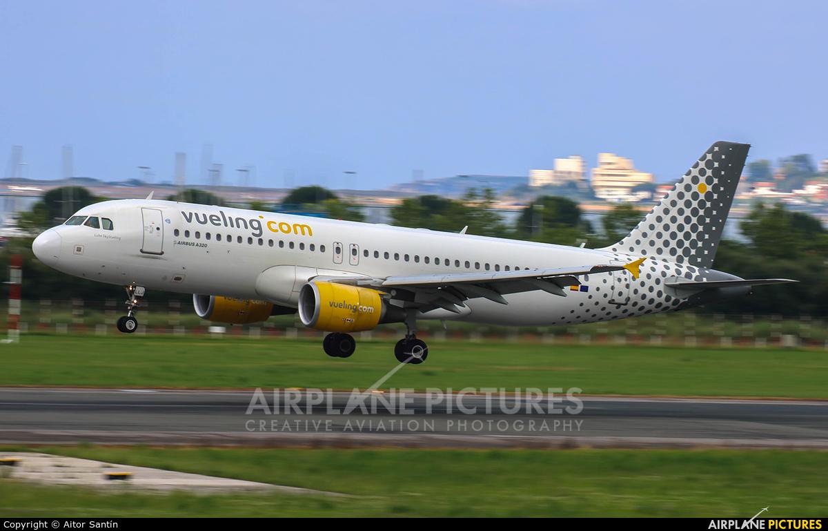 Vueling Airlines EC-LLJ aircraft at Santander