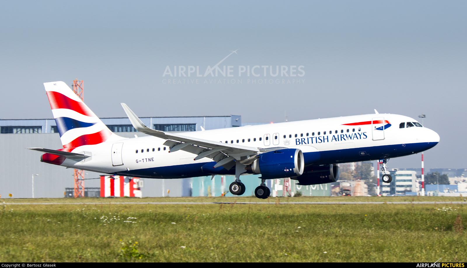 British Airways G-TTNE aircraft at Warsaw - Frederic Chopin