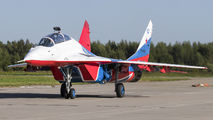 "RF-91945 - Russia - Air Force ""Strizhi"" Mikoyan-Gurevich MiG-29UB aircraft"
