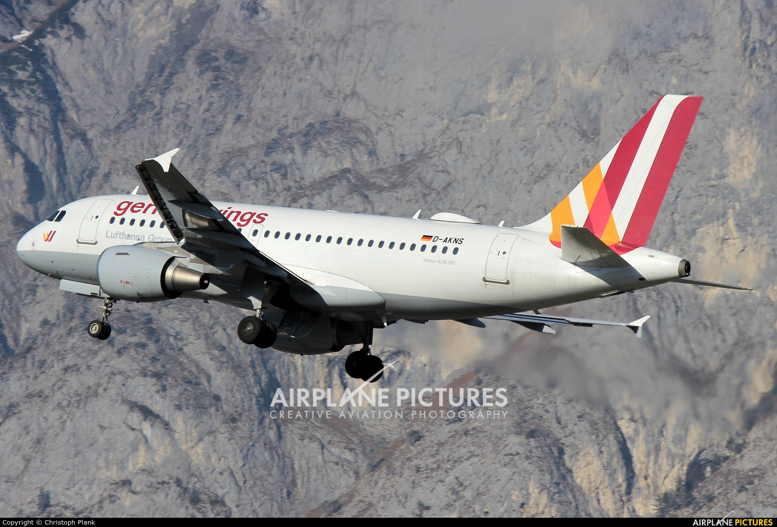 Germanwings D-AKNS aircraft at Innsbruck