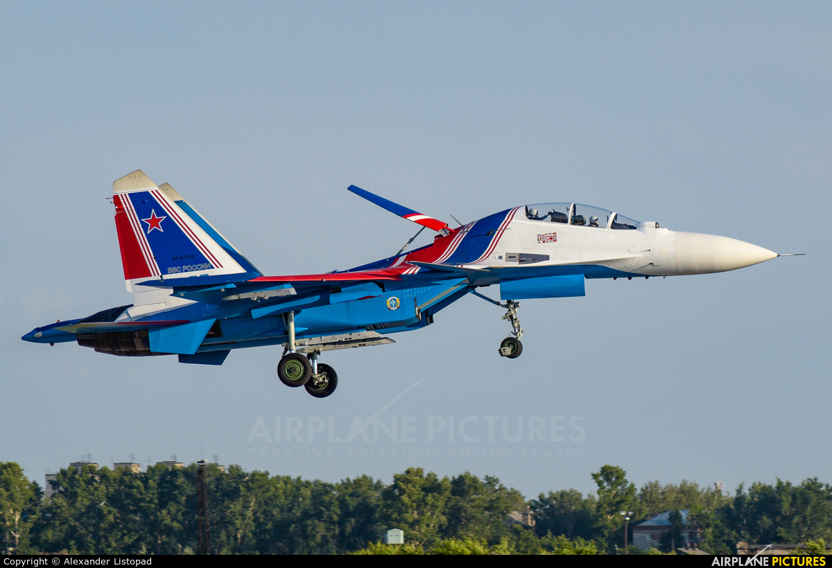 "Russia - Air Force ""Russian Knights"" RF-81704 aircraft at Novosibirsk"