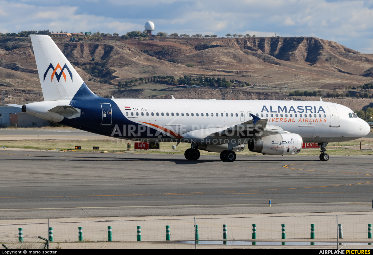 Al Masria SU-TCE aircraft at Madrid - Barajas