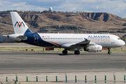 Rare visit of Al Masria A320 to Madrid title=